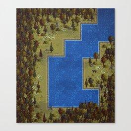 Pixel Forest Canvas Print
