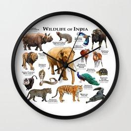 Wildlife of India Wall Clock