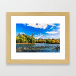 Rafting along the Bystraya (Fast) river, Kamchatka Framed Art Print