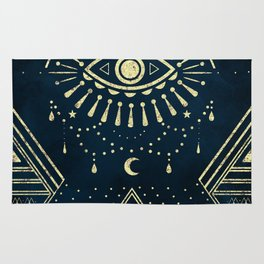 Eye Midnight Gold Rug
