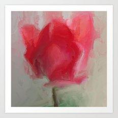 Lipsick Tulip Art Print