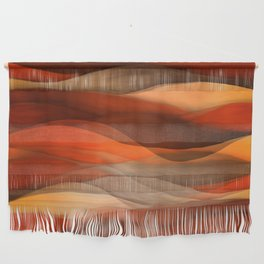 """""""Sea of sand and caramel waves"""" Wall Hanging"""