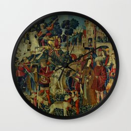 The Unicorn is Killed and Brought to the Castle (from the Unicorn Tapestries) 1495–1505 Wall Clock