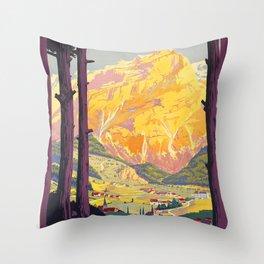Vintage poster - En Tarentaise, France Throw Pillow