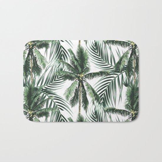South Pacific palms Bath Mat