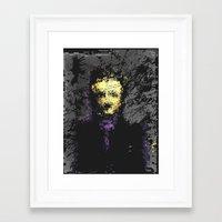 edgar allan poe Framed Art Prints featuring Edgar Allan Poe by brett66