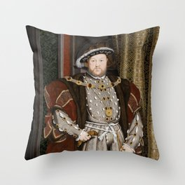 Portrait of Henry VIII - After Hans Holbien the Younger Throw Pillow