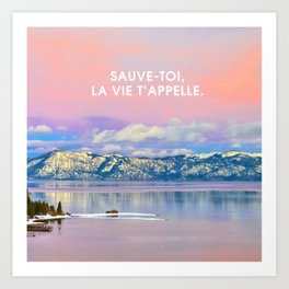 _SAUVE TOI Art Print