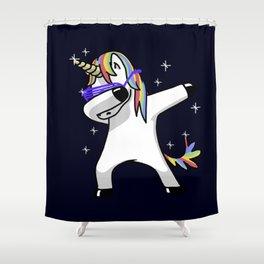 Dabbing Unicorn Shirt Dab Hip Hop Funny Magic Shower Curtain