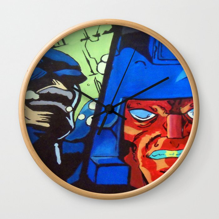 Anger in Animation Wall Clock