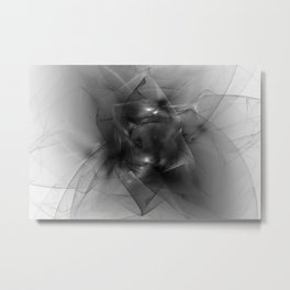 Folds in Black and White Metal Print