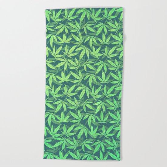 Cannabis / Hemp / 420 / Marijuana  - Pattern Beach Towel