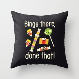 Half in the Bag Again Throw Pillow
