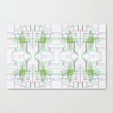 Circuit board green repeat Canvas Print