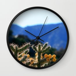 Colorado Cactus 1 Wall Clock