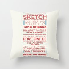29 Ways to Stay Creative Throw Pillow