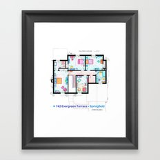 The house of Simpson family - First floor Framed Art Print