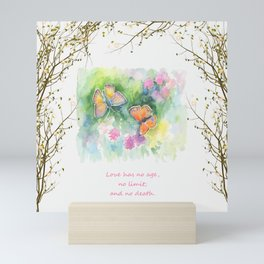 Butterflyes & Love quote Mini Art Print