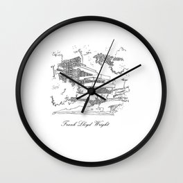 Frank Lloyd Wright Wall Clock
