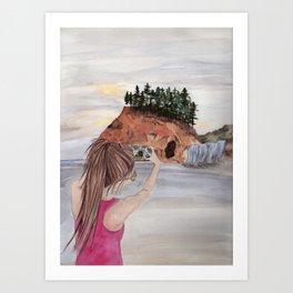 Hugs from the Oregon Coast - Hug Point, Oregon Art Print
