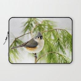 Titmouse Bird Laptop Sleeve