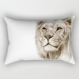 A Lion :: Without Pride Rectangular Pillow