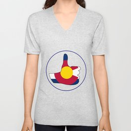 Thumbs Up Colorado Unisex V-Neck