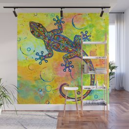 Electric Gecko Psychedelic Paisley Lizard Wall Mural