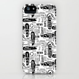 Gamer Lingo-White and Black iPhone Case