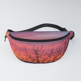 Spring Sunset Silhouette Fanny Pack