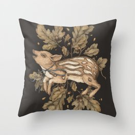 Almost Wild, Foundling Throw Pillow