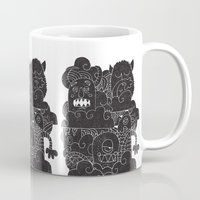 monsters Mugs featuring MONSTERS by Matthew Taylor Wilson
