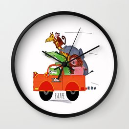 Escape from the Zoo! Wall Clock
