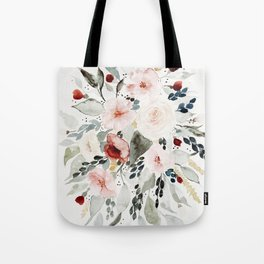 Loose Watercolor Bouquet Tote Bag