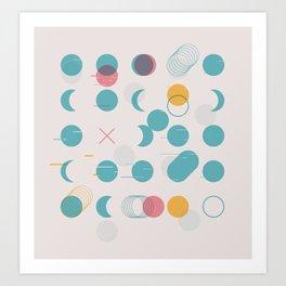 Circle Grid Art Print
