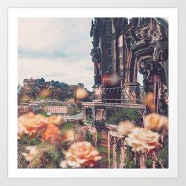Edinburgh in Bloom Art Print