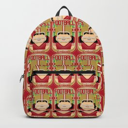 American Football Red and Gold -  Hail-Mary Blitzsacker - Amy version Backpack