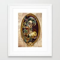 steampunk Framed Art Prints featuring Steampunk by Mili Koey