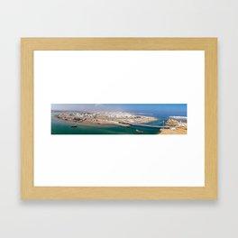 Panoramic of Sur harbor - Oman Framed Art Print