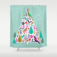 Christmas Tree by Andrea Lauren  Shower Curtain