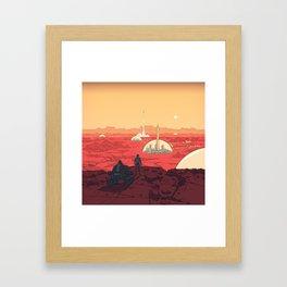 Future Desert City Framed Art Print