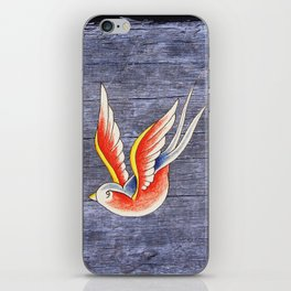 Red Swallows iPhone Skin