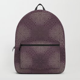 Pink purple intricate ornamental pattern  Backpack