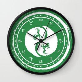Capricorn Yin Yang Tenth Zodiac Sign Wall Clock
