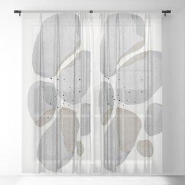 Abstract Desert Stones Sheer Curtain