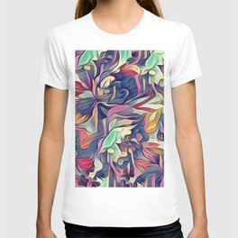 Midnight Floral Abstract T-shirt