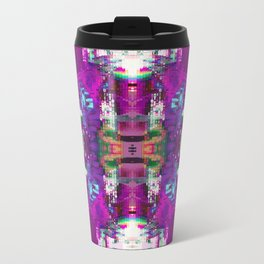 Purple digital patchwork Travel Mug
