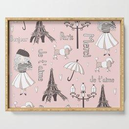 Paris Girl - Pink Serving Tray