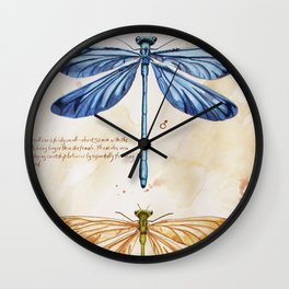 Science art insect art Wall Clock