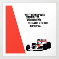 senna Art Prints featuring Senna Inspriation by MDBDESIGN.